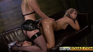 Ardent lubed Riley Ray is made for bondage and some hard masturbation