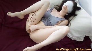 Big-Breasted darkhair 18yo schoolgirl cute solo self-stimulation - Thicci enjoying herself