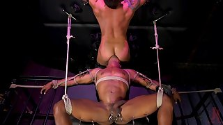 Gay males in rough maledom BDSM sex play
