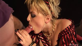 Mommy sucks the dick in unbelievable ways