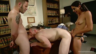 Bisexual threesome with nasty Lyla Storm is memorable experience