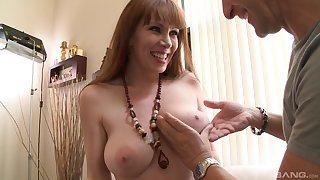 Mature lady RayVeness strips and teases before having amazing sex