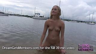 Crazy Blonde Gets Naked In Super Risky Spots In Tampa