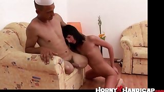 Cunt licking by hottie handicapped creep!