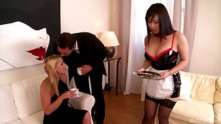 Maid gets her ass spanked and pussy fucked - Tigger Benson and Kathia