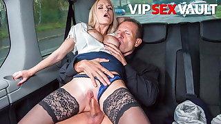 FUCKED IN TRAFFIC - Slutty MILF Rossella Visconti Banged in Van