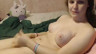 Femboy teen With Natural wobblers On Live web camera