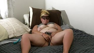 BBW Wife Masturbates With Vibrator to Multiple Orgasms